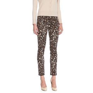 Kate Spade Animal Print Leopard Ankle Pants